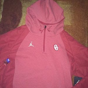 Jordan Jackets & Coats - NWT Jordan Oklahoma U Pullover Hoodie Jacket